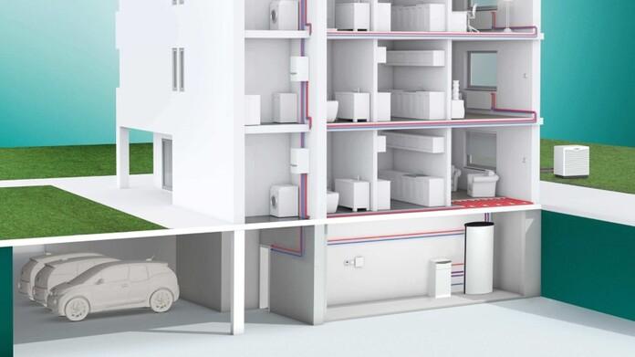 Systemhaus mit Wärmepumpen