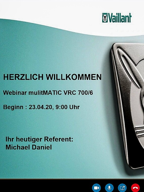 Screenshot eines Webinars