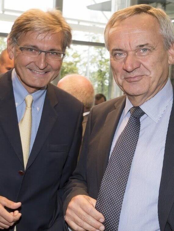 v.l.n.r: Dr. Hannes Winkler (Vorsitzender des Aufsichtsrats Frauenthal Group) und Dr. Gerhard Glinzerer (Geschäftsführer Herz Armaturen)