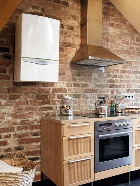 Vaillant Wandheizgerät ecoTEC exclusive VC in der Küche