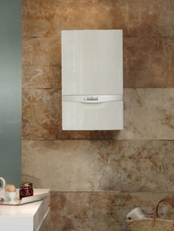 Das Vaillant Kombiheizgerät ecoTEC plus VCW in der Küche