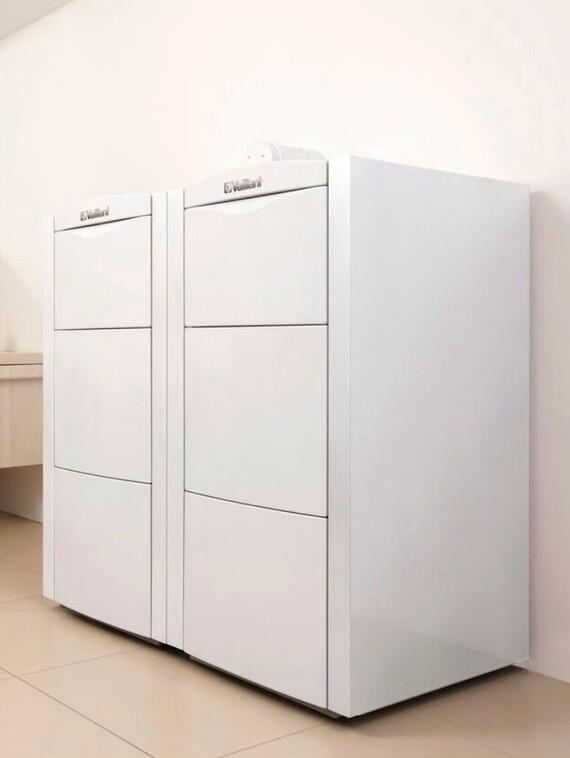 Der Vaillant Gas-Brennwertkessel ecoVIT exclusiv im Wohnraum