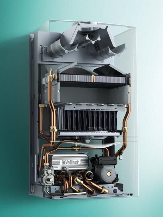 X-Ray Ansicht des Vaillant Gas-Wandheizgeräts atmoTEC plus VCW