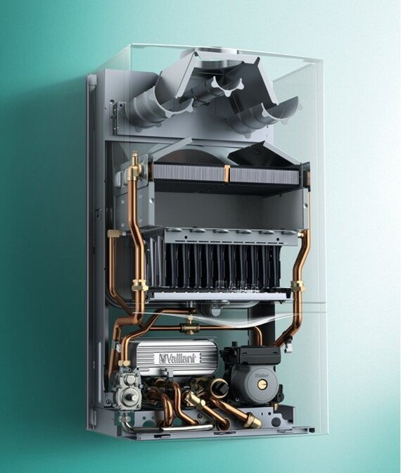 X-Ray Ansicht der Vaillant Gas Kombitherme atmoTEC plus VCW