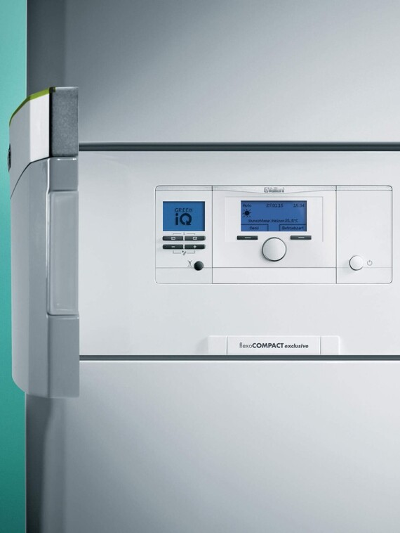 Vaillant Bedienleiste der Wärmepumpe flexoCOMPACT exclusive