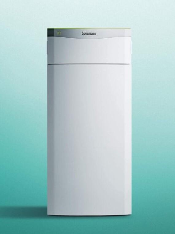 Vaillant Wärmepumpe Sole/Wasser flexoTHERM exclusive vor grünem Hintergrund