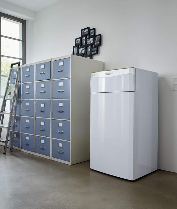 Vaillant Wärmepumpe flexoTHERM exclusive im Wohnraum