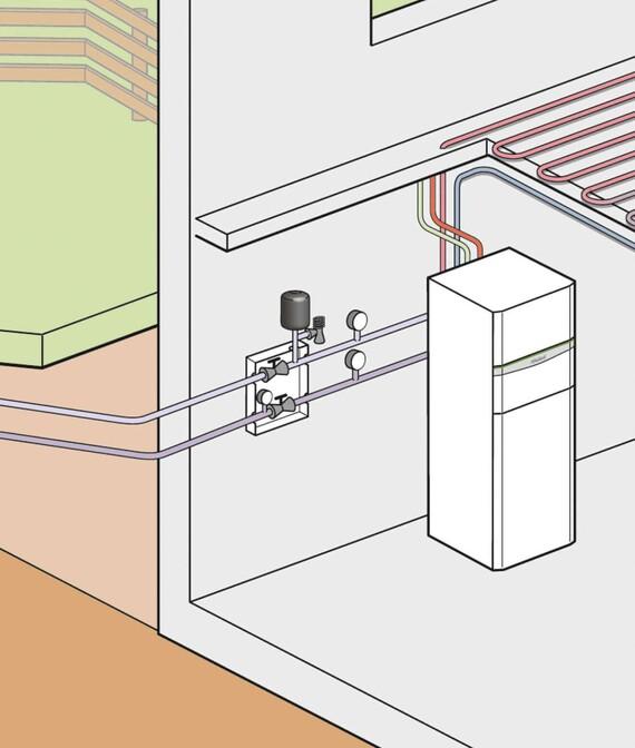 Vaillant Beispielbild Luft-Wärmequelle flexoTHERM exclusive