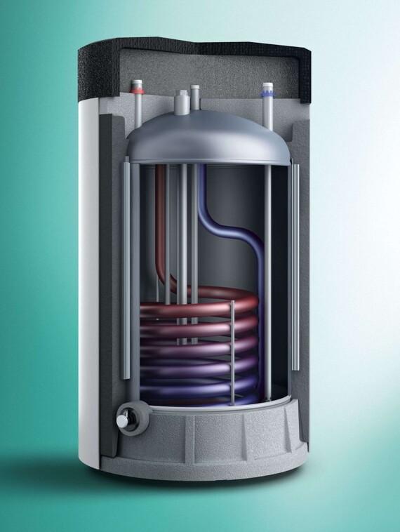 X-Ray Ansicht des Vaillant Warmwasserspeichers uniSTOR VIH R