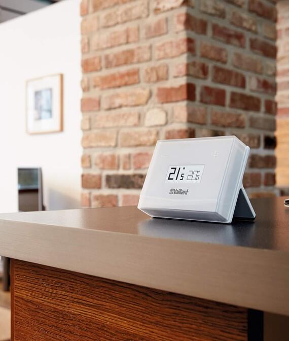 Vaillant Raumtemperaturregler eRELAX: Freiaufstellung im Wohnraum
