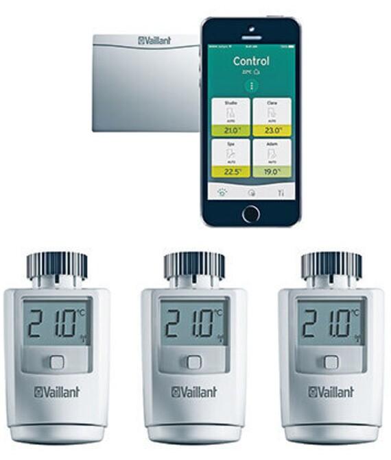 Vaillant ambiSENSE Thermostatventile für die Befestigung am Heizkörper