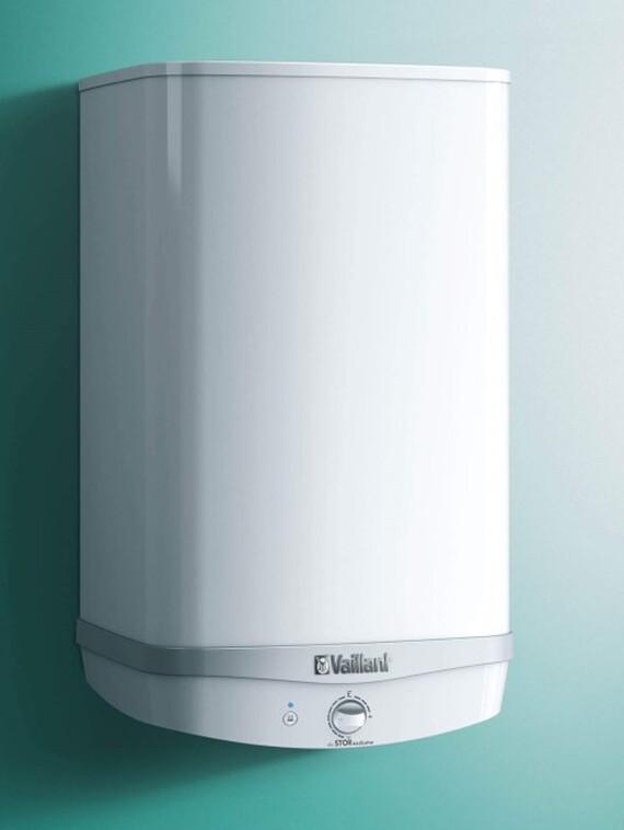Nahaufnahme des Vaillant Elektro-Warmwasserspeichers eloSTOR exclusive