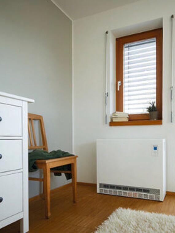 Vaillant bodenstehendes Elektro-Speicherheizgerät VSU EL im Wohnraum