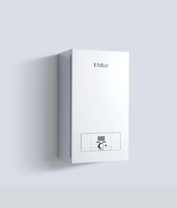 Vaillant Elektro-Wandheizgerät eloBLOCK vor weißem Hintergrund