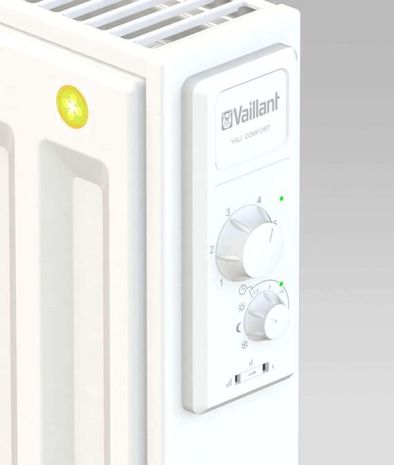Bedienblende des Vaillant Elektro-Strahlungspaneels Yali Comfort