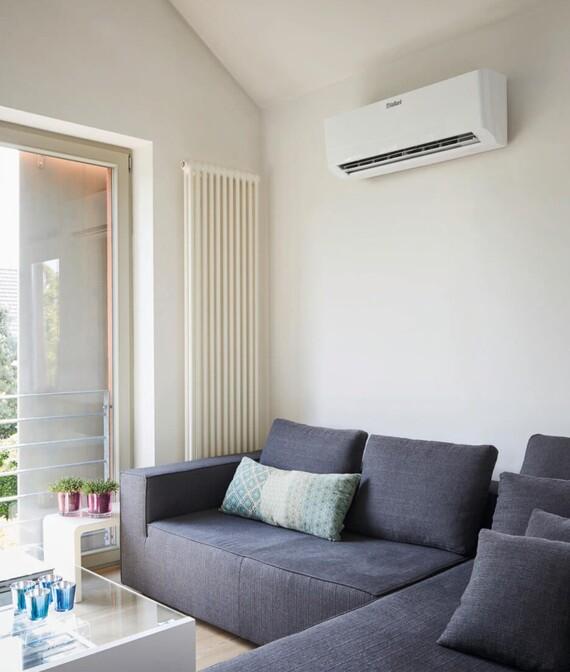Vaillant climaVair: Innengerät im Wohnraum