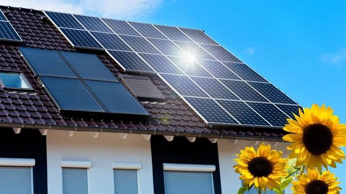 Photovoltaik-Modul auf einem Dach