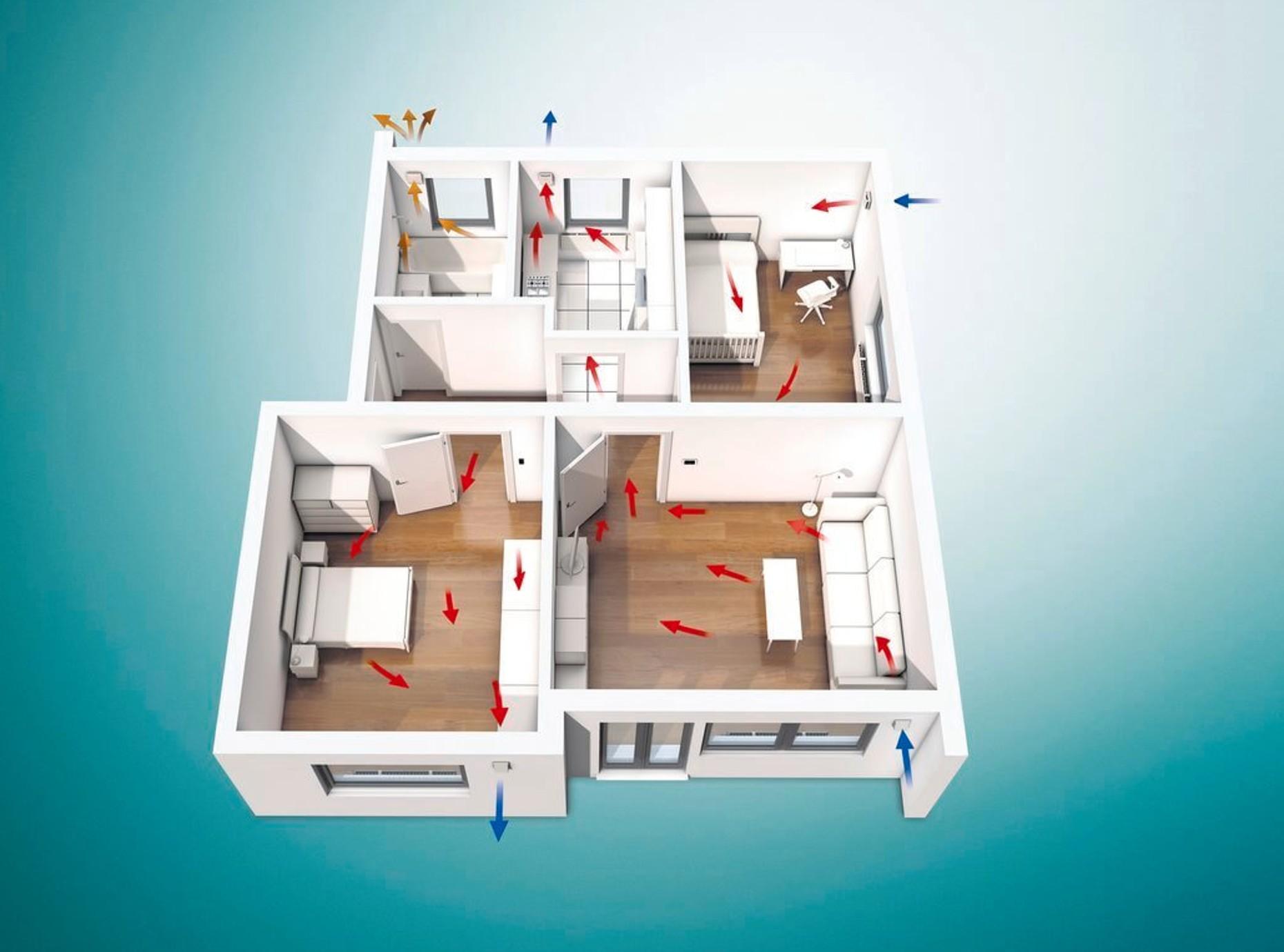 Abluftventilator recoVAIR VAE für Küche, Bad und WC