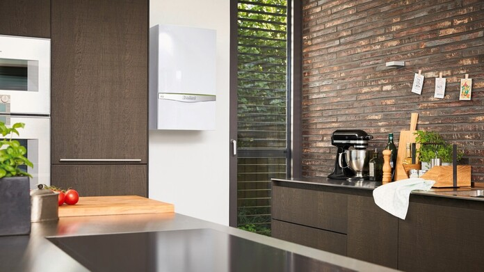 Kitchen with a ecoTEC gas boiler