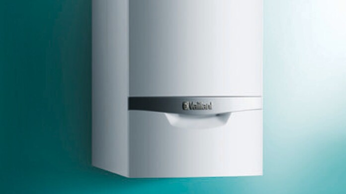 Frontview of wall-hung boiler ecoTEC plus